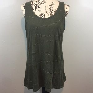 Mossimo Grey Olive Tank with Bronze Studs